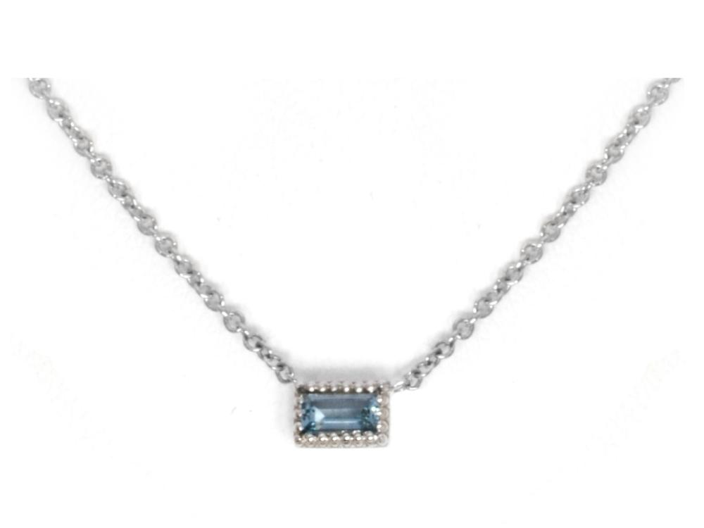 TIMELESS DESIGNS - Single Gemstone Pendant with Aquamarine