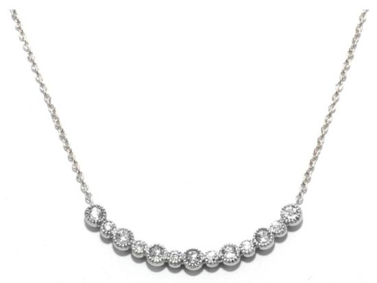 TIMELESS DESIGNS - Diamond Bar Smile Pendant
