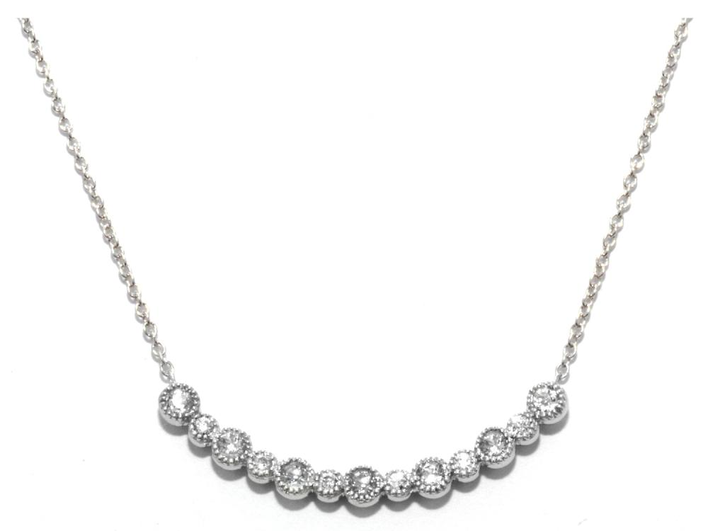 TIMELESS DESIGNS - Diamond Bar Smile Pendant