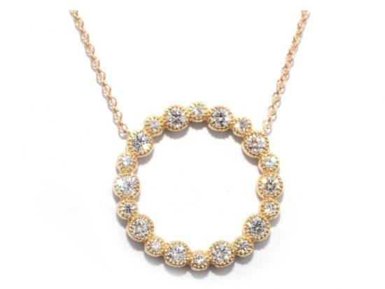 TIMELESS DESIGNS - Diamond Circle Pendant