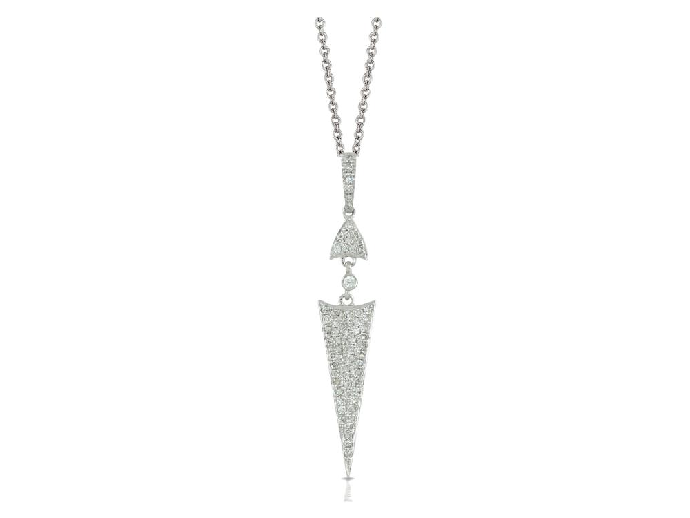 DOVES - 18K White Gold Diamond Pendant