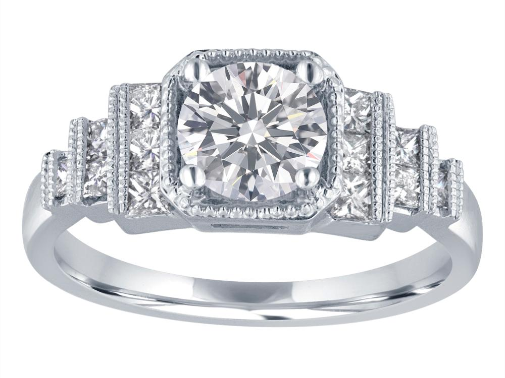 TIMELESS DESIGNS - Engagement Ring Mounting with Stairstep Design