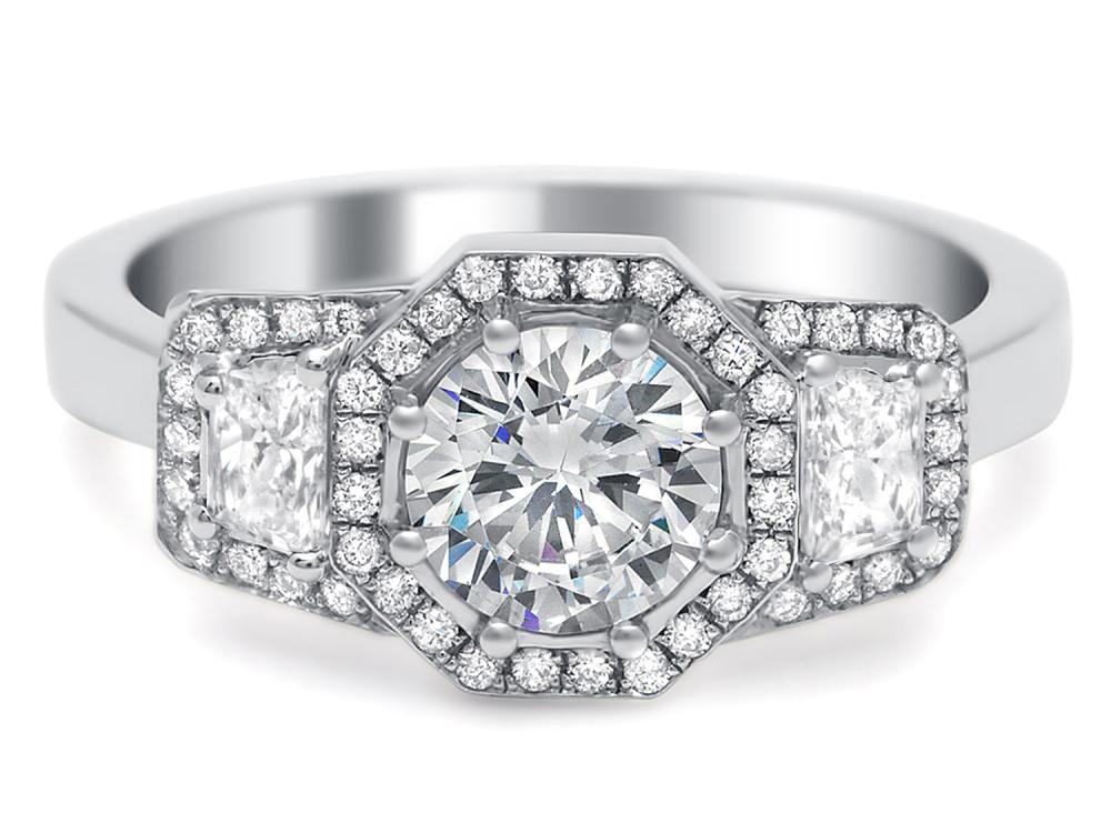 TIMELESS DESIGNS - Engagement Ring Mounting with Halo