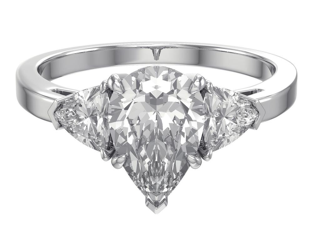 TIMELESS DESIGNS - Three Stone Engagement Ring Mounting