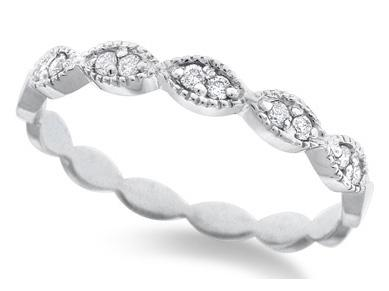 KC DESIGNS - Diamond Marquise Shaped Stackable Ring
