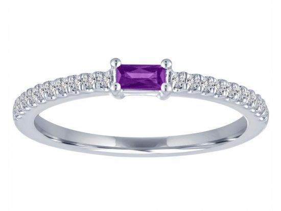 TIMELESS DESIGNS - Diamond and Amethyst Ring