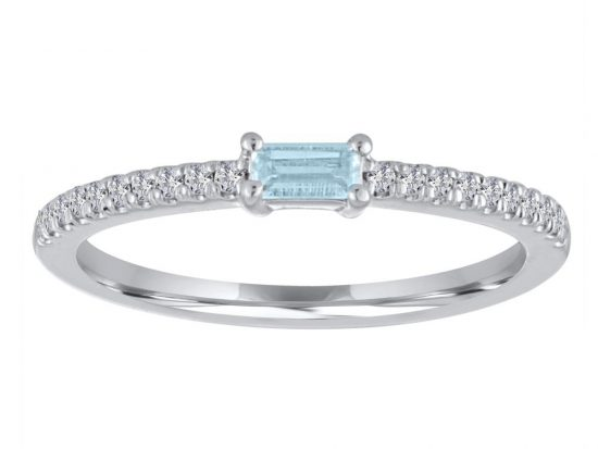 TIMELESS DESIGNS - Diamond and Aquamarine Ring