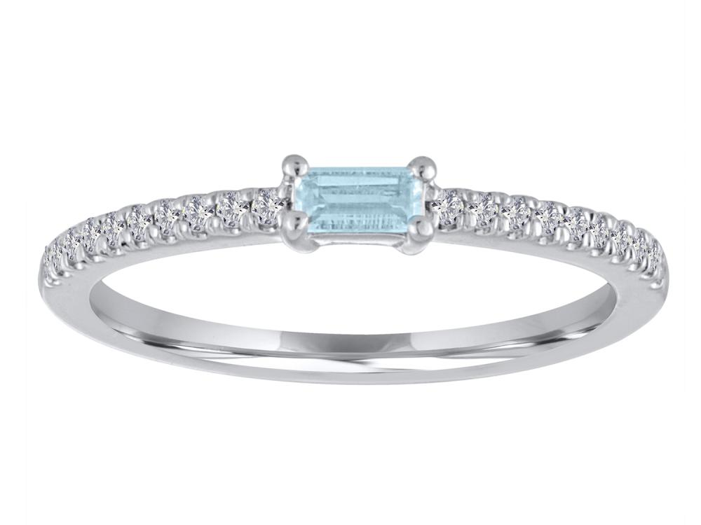 TIMELESS DESIGNS - Diamond and Aquamarine Ring