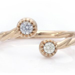 TIMELESS DESIGNS - Diamond Band with Moonstone
