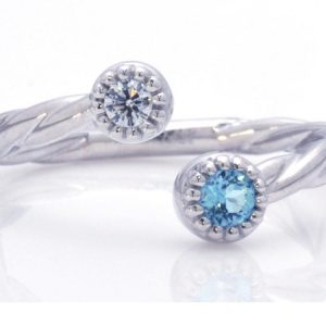 TIMELESS DESIGNS - Diamond Band with Topaz