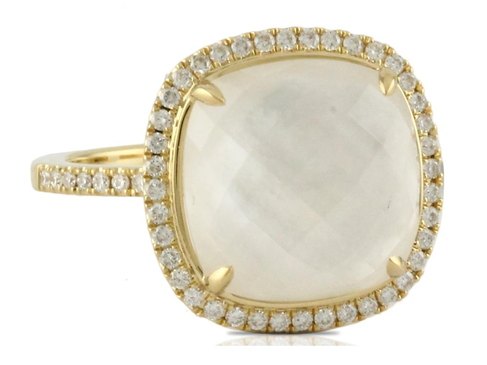 DOVES - 18K Yellow Gold Diamond Ring