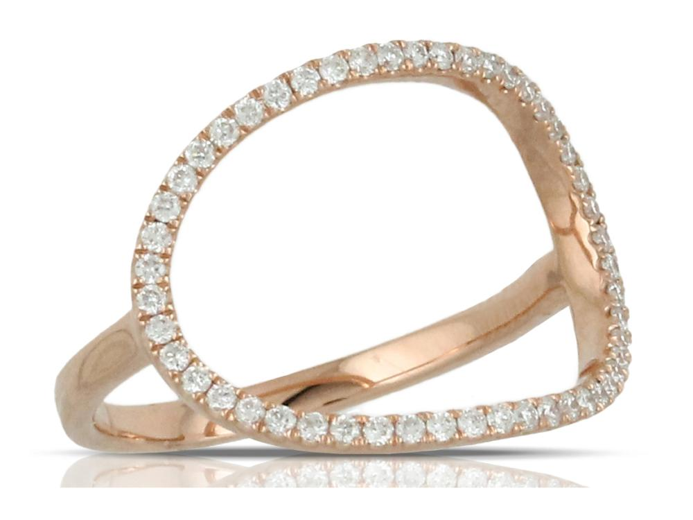 DOVES - 18K Rose Gold Diamond Ring