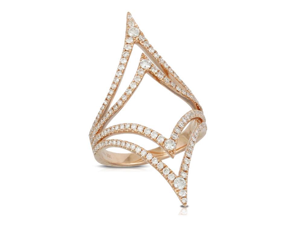 DOVES - 18K Rose Gold Diamond Ring