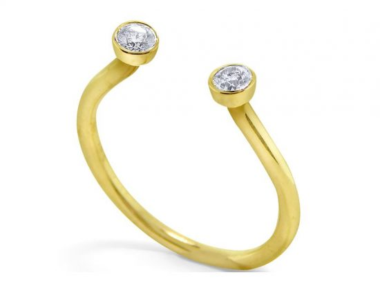 KC DESIGNS - 14K Diamond Two Stone Ring
