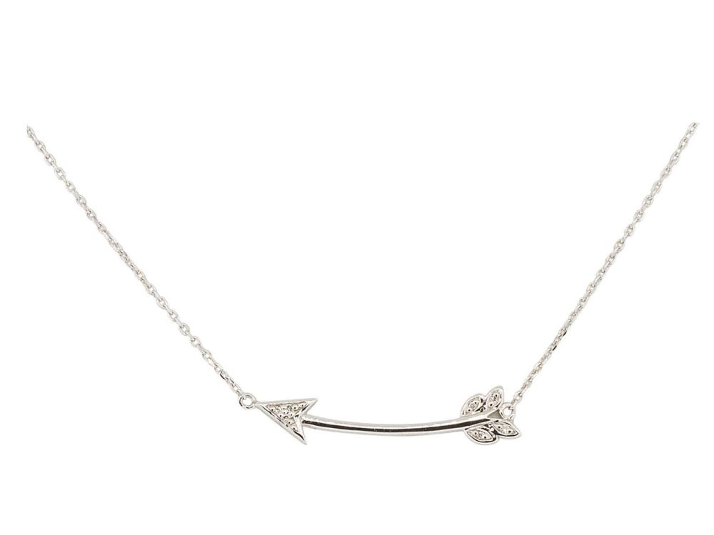 SLOANE STREET - Small Curved Arrow Necklace