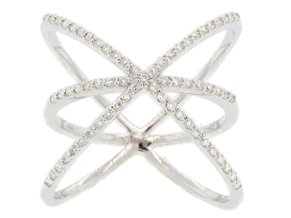 SLOANE STREET - Criss Cross Diamond Ring