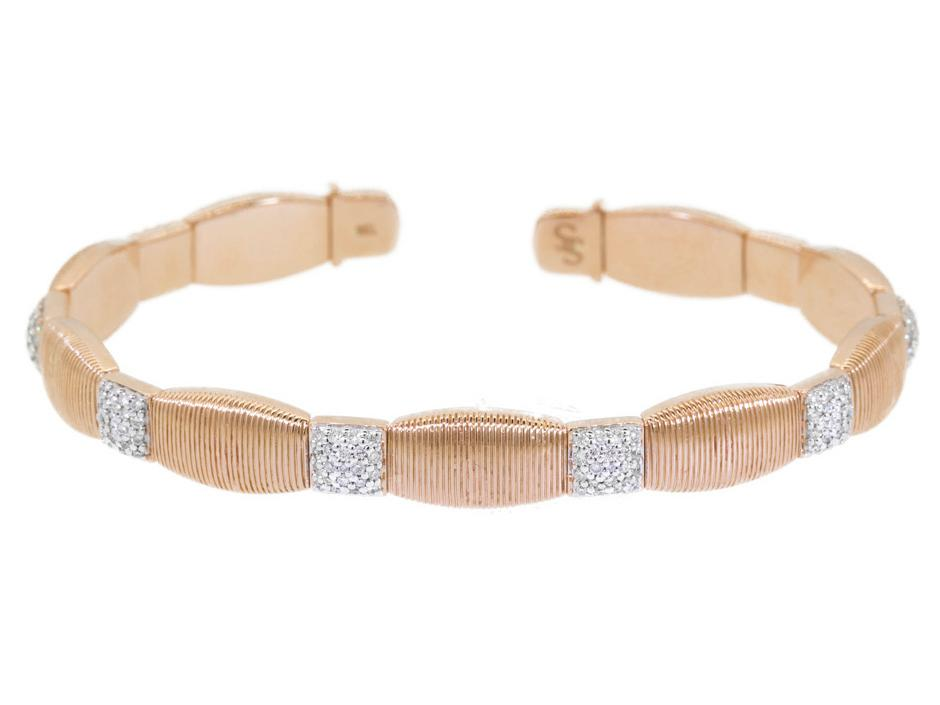 SLOANE STREET - Flexible Gold Strie Stretchy Bracelet