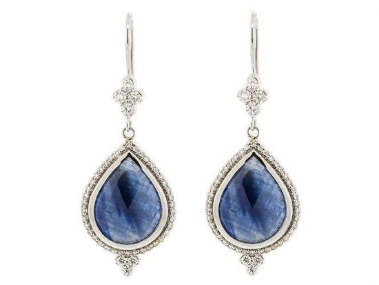 SLOANE STREET - Blue Sapphire Pear Drop Earrings