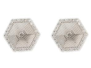 SLOANE STREET - Hexagon Strie Earrings