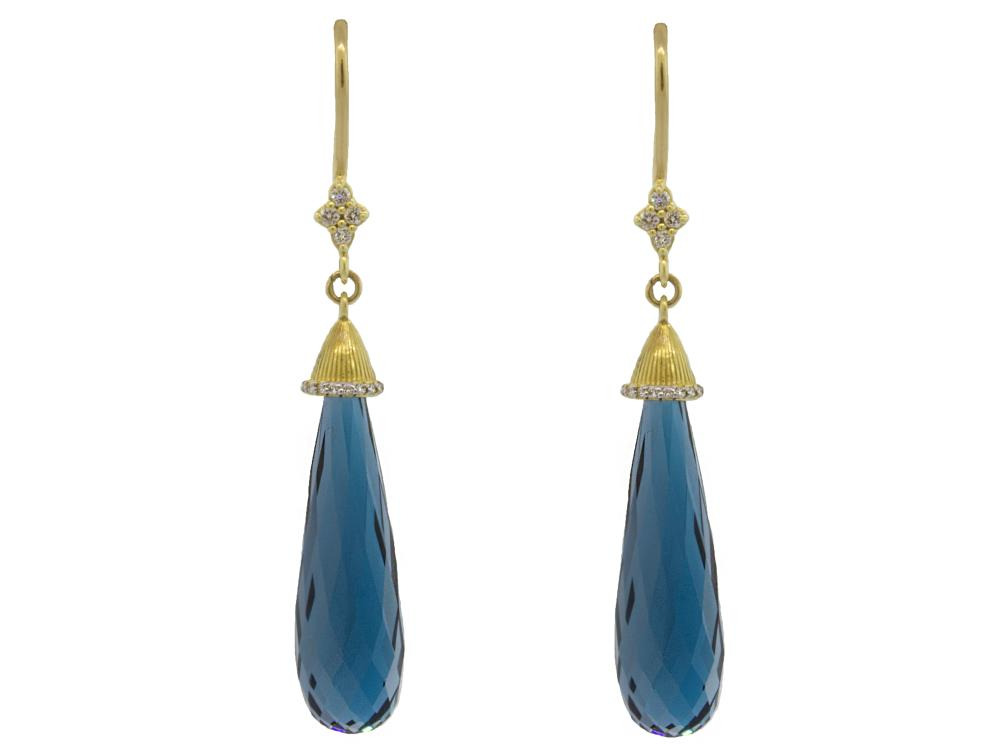 SLOANE STREET - London Blue Briolette Drop Earrings