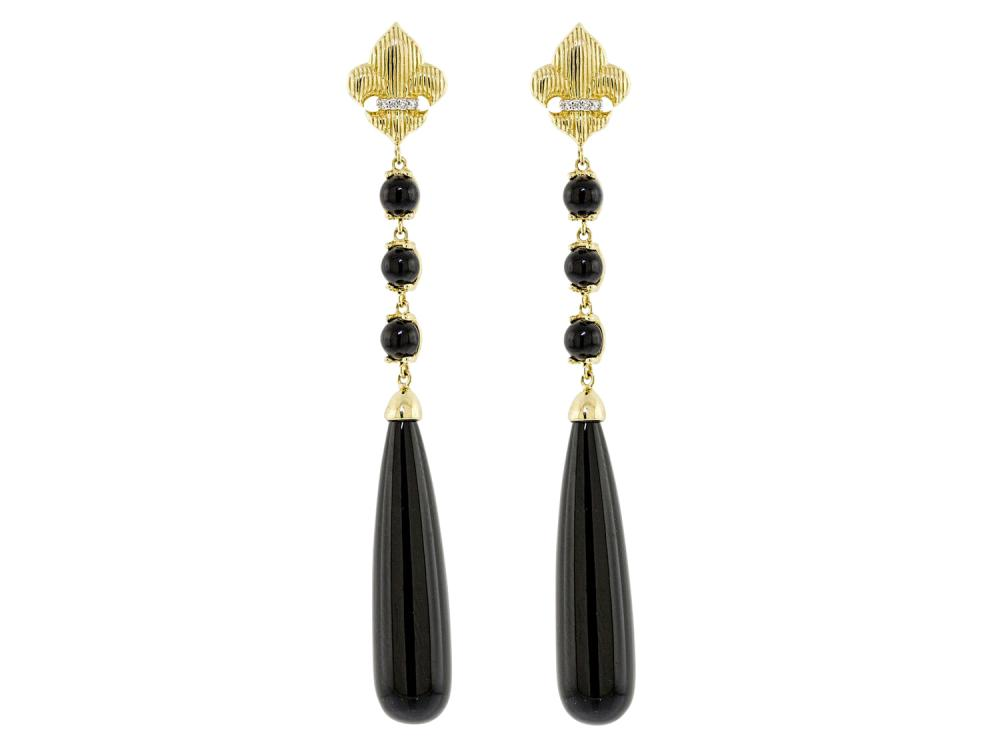 SLOANE STREET - Onyx Briolette Earrings