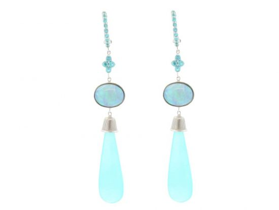 SLOANE STREET - Blue Opal Briolette Earrings