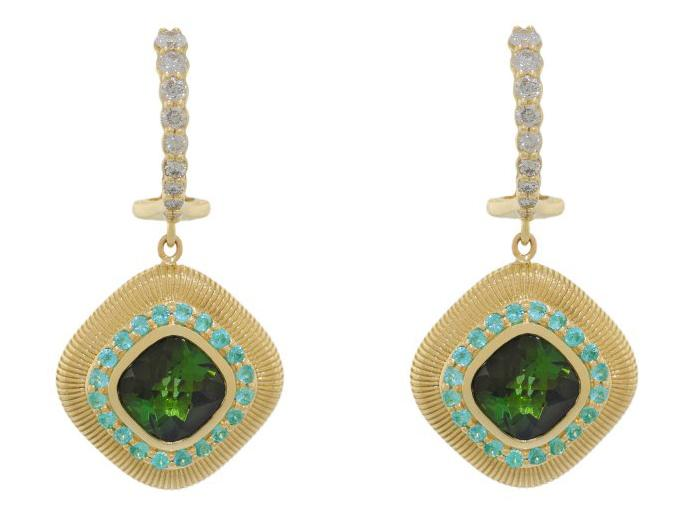 SLOANE STREET - Green Tourmaline  Earrings