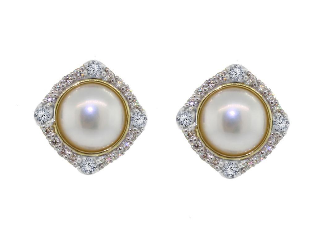 SLOANE STREET - White Pearl Stud Earrings