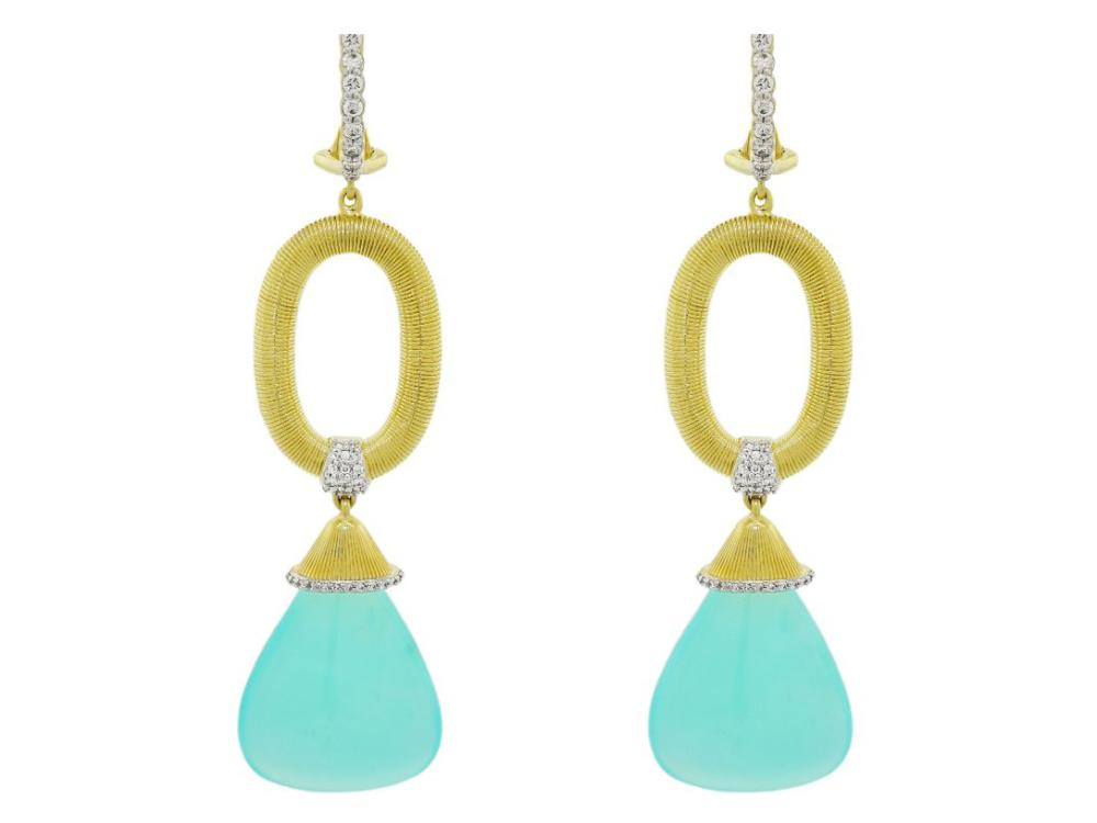 SLOANE STREET - Strie Gold Link Earrings