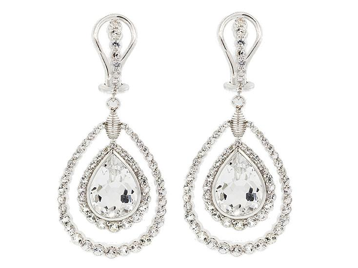 SLOANE STREET - White Topaz Earrings