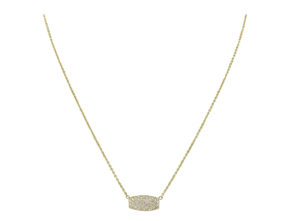 SLOANE STREET - Pave White Diamond Samantha Pendant