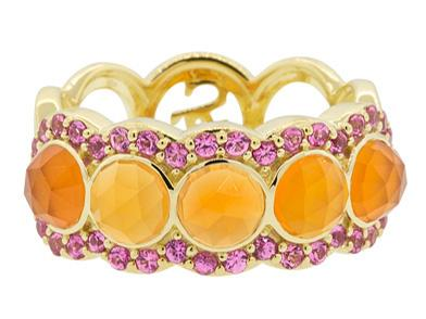 SLOANE STREET - Orange Chalcedony Stone Band