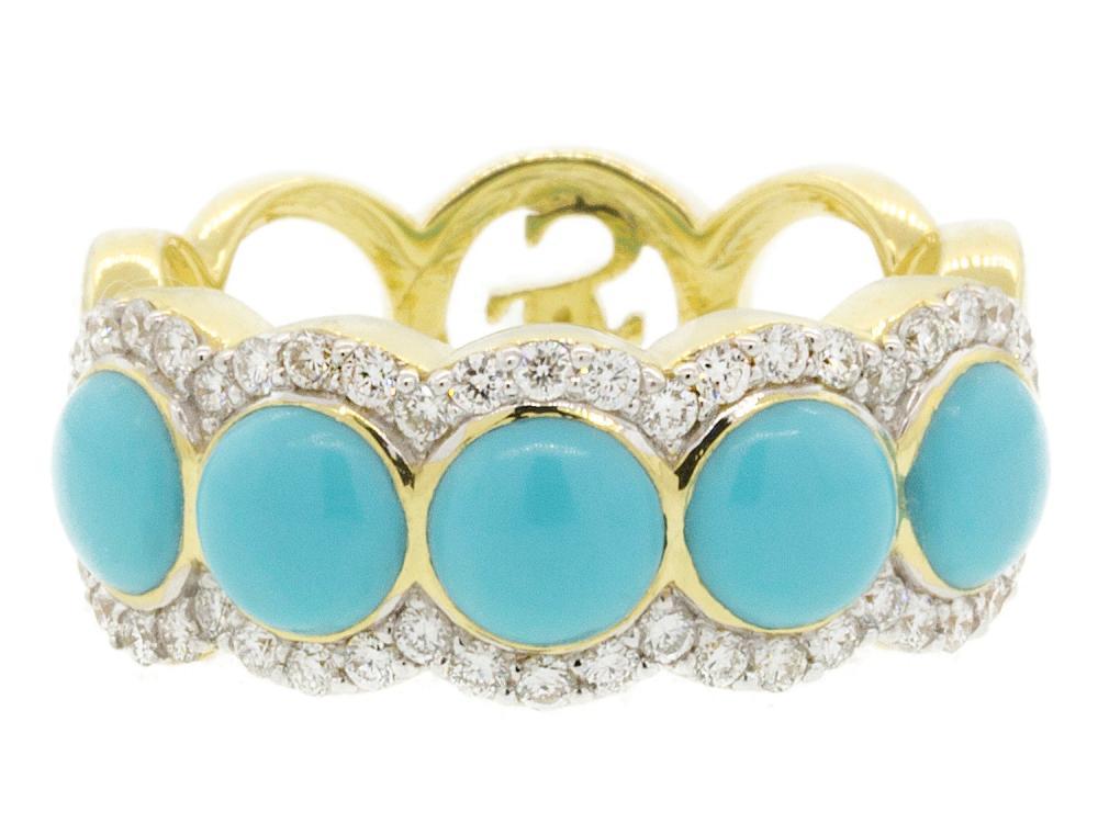 SLOANE STREET - Multi Stone Turquoise Ring