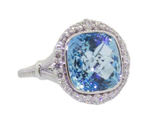 SLOANE STREET - Cushion Sky Blue Topaz Ring