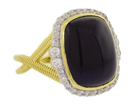 SLOANE STREET - Cushion Onyx Ring