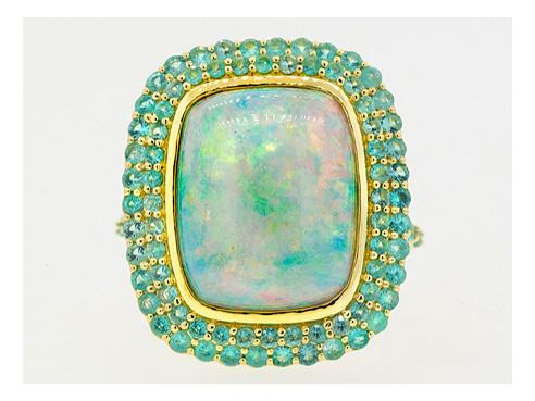 SLOANE STREET - Cushion Opal Ring