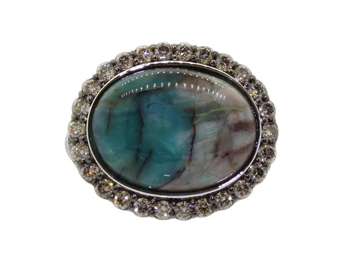SLOANE STREET - Oval Turkish Wood Opal Ring