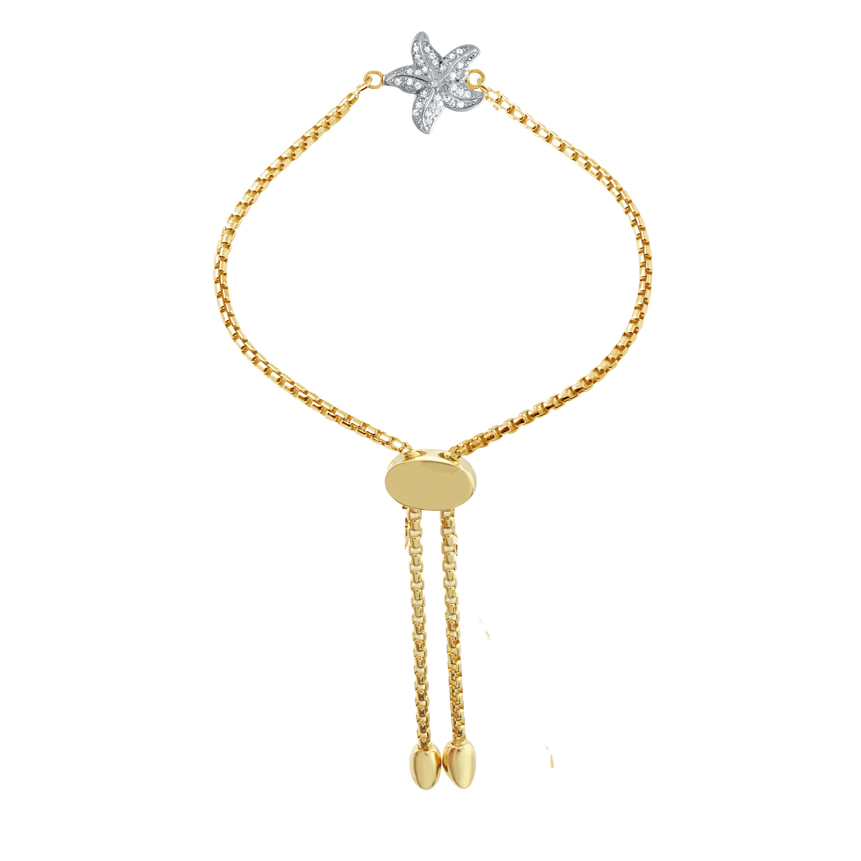 CHARLES GARNIER - Sterling Silver and CZ Starfish Bracelet