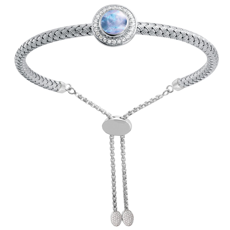 CHARLES GARNIER - Sterling Silver, Lapis and CZ Bracelet