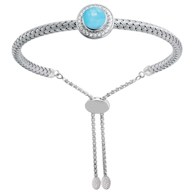 CHARLES GARNIER - Sterling Silver, Pearlimar and CZ Bracelet