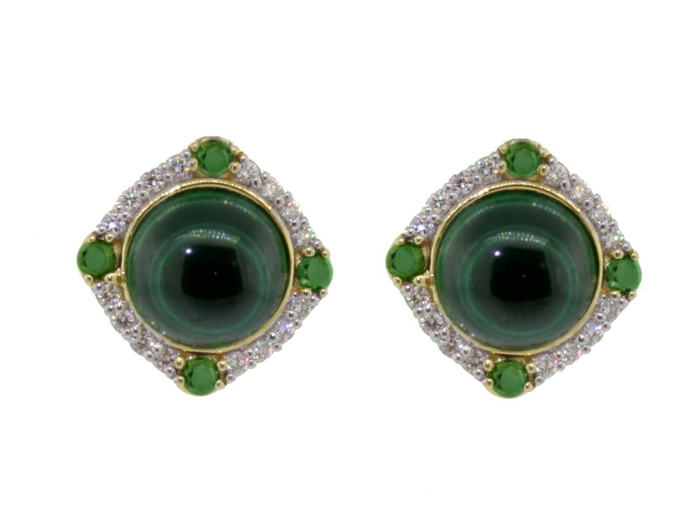 SLOANE STREET - Malachite Stud Earrings