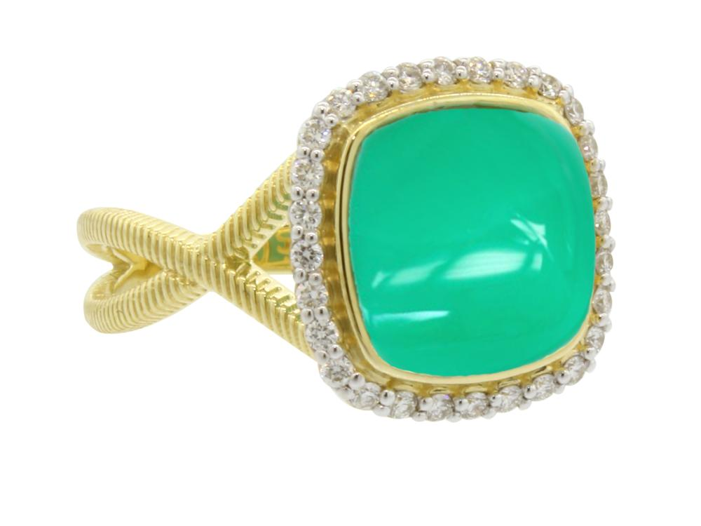 SLOANE STREET - Cushion Shape Chrysoprase Ring